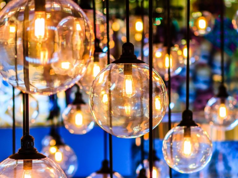 beautiful-lighting-decor outdoor view in the evening